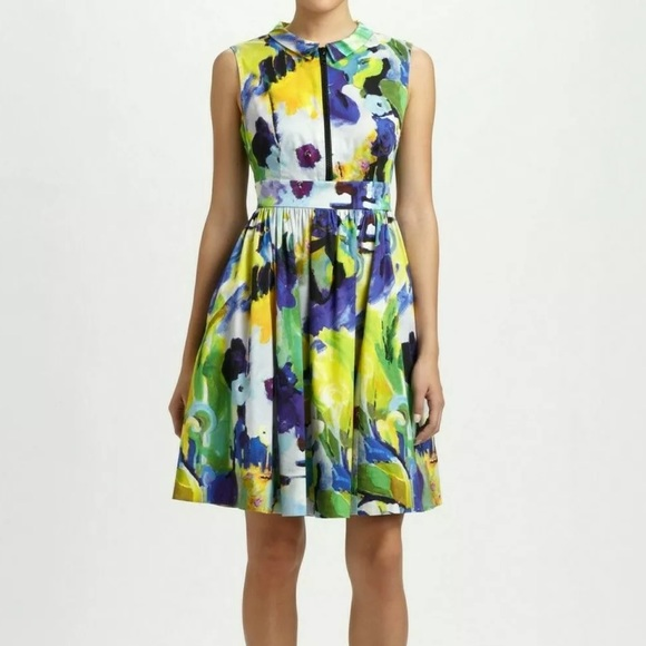 Kate spade carissa watercolor fit and flare dress